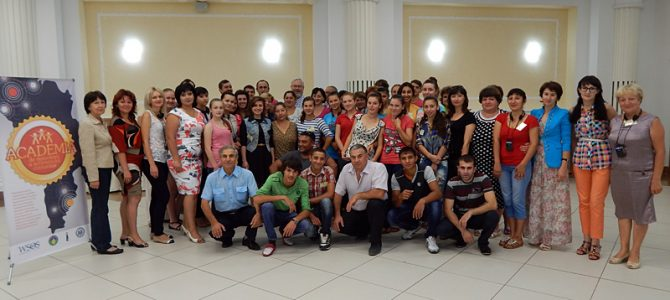 We are a team, we represent Moldova and speak eight different languages!