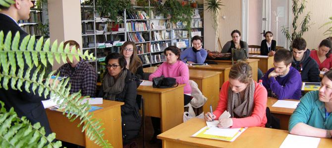 American students visiting Zirnesti