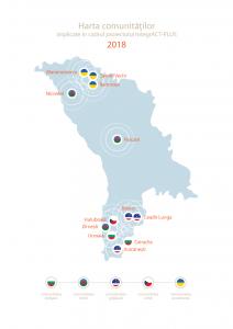 Harta comunităților implicate in cadrul proiectului