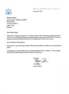 Letter of information