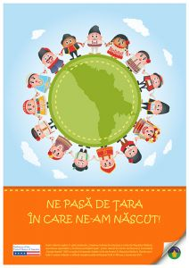 Poster for the project 'Growing Roma inclusion in Moldova: building capacity and facilitating Roma equal participation', 2012-2013.