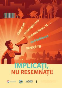 Poster for the Minority Empowerment in Moldova II project, 2016-2017.