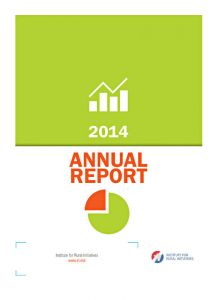 Institute for Rural Initiatives - Annual Report 2014, A4 format, 20 pp.