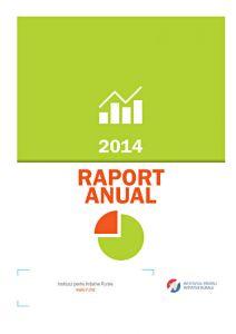 Institutul pentru Inițiative Rurale - raport anual 2014, format A4, 20 pag.