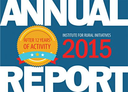 Institute for Rural Initiatives - Annual Report 2015, A5 format, 28 pp.