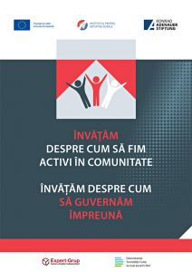"""Broşură în cadrul proiectului """"Guvernăm Împreună"""", 2019-2020."""
